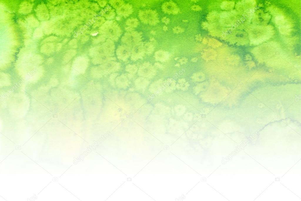 Fondo Blanco Con Verde: Fondo Degradado Acuarela Verde-blanco