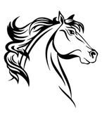 Horse Head vector art — Stock Vector