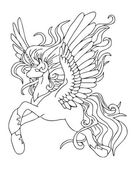 Fairy unicorn vector art — Stock Vector