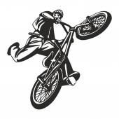 Extreme bike stunt vector decal — Stock Vector