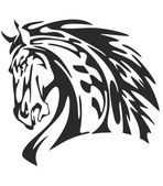 Tribal Horse Head — Stock Vector