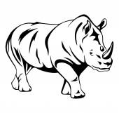 Rhino Vector Art — Stock Vector