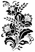 Flowers Swirls Vector Decals — Stock vektor