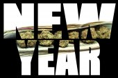 New Year, Marijuana and Cannabis — Stock Photo