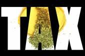 Marijuana and Cannabis, Tax — Stock Photo