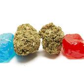 大麻的 Thc 糖果 — 图库照片
