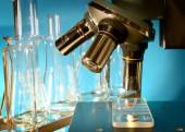 Microscope in the laboratory — Stock Photo