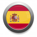 Spain flag button — Stock Vector #53064561
