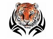 Tiger tribal — Stock Vector