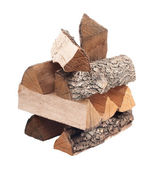 Oak firewood. isolated — Stock Photo