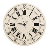 Wall clock with the Roman figures — Stock Photo