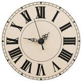 墙上时钟与罗马的数字 — 图库照片