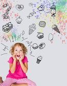 Gierige Kind — Stockfoto