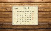 Kalender april 2015 — Stockfoto