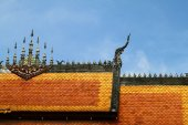 Architecture roof  in Laos temple — Stock Photo