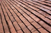Grunge red brick texture — Stock Photo
