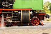 Side view of a historic narrow-gauge railway — Stock Photo