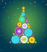 Noel ağacı noel vektör arka plan — Stok Vektör
