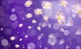 Fons vector circles and flowers — Stockvektor