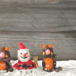 Santa claus with reindeers — Stock Photo #56409709