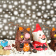Santa claus with reindeers — Stock Photo #56410733