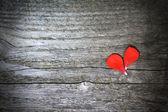 Coeur de concept de Valentines faite avec des fleurs — Photo