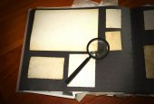 Vintage documents with magnifying glass  — Foto de Stock