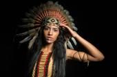 Native American girl — Stock Photo