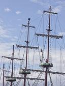 Schiff-Masten — Stockfoto