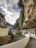 Setenil Andalucia   picturesque village with houses embedded in  — Stock Photo