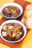 Beef Soup and Toast — Stock fotografie