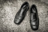 Black old shoes — Stock Photo