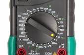 Isolated digital multimeter selector — Stock Photo