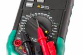 Isolated multimeter with probes — Stock Photo