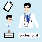 Profession, male doctor — Wektor stockowy