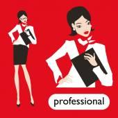профессиональный бизнес женщина — Cтоковый вектор