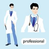 Profession, male doctor — Stockvector