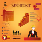 Architecture infographic — Stock Vector