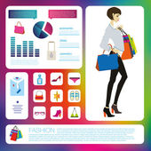 Fashion infographic set. — Vector de stock
