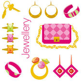 Jewellery set. — Stock Vector