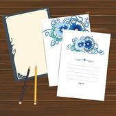 Set of invitation cards — Stockvektor
