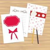 Set of invitation card templates — Stock Vector