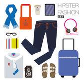 Fashion items set — Stockvector