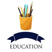 Art supplies education logo — Stock Vector