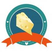 Cheese logo sign — Stock Vector