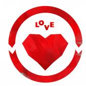 Love heart logo — Stock Vector
