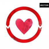 Abstract Heart logo — Stock Vector