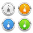 Thermometer icons — Stock Vector #51954099