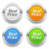 Best price text icons — Stock Vector