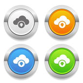 Cloud upload icons — Stock Vector